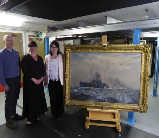 Paintings set sail for conservation thanks to Isle of Man Steam Packet Company