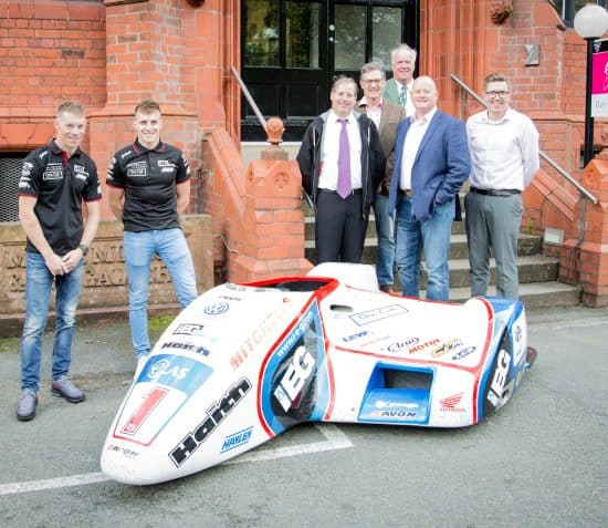 Record-breaking Birchall brothers' 2018 sidecar arrives at Manx Museum