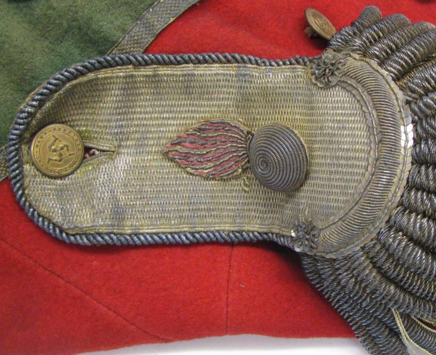 Conserved Napoleonic military uniform by Jacqueline Hyman
