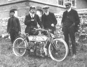 Rem Fowler, winner of the first Isle of Man TT Race