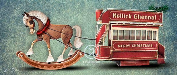 Nollick Ghennal Rocking Horse Tram by Kasia Mirska Image copyright Kasia Mirska