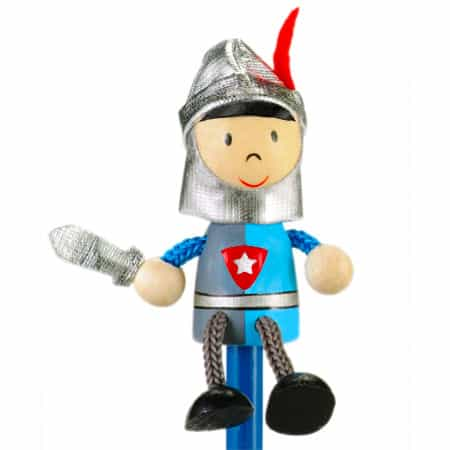 Blue Knight Pencil Topper