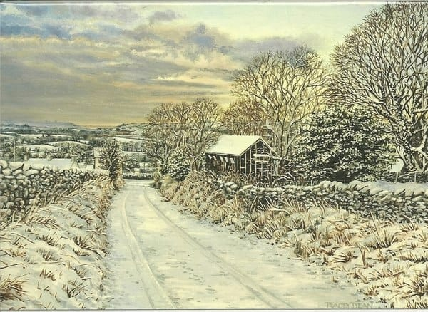 'Emily Watson's Cottage' Greeting Card by Tracey Harding