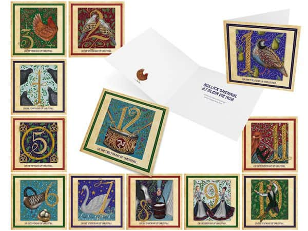 Twelve Days of Christmas Greeting Cards
