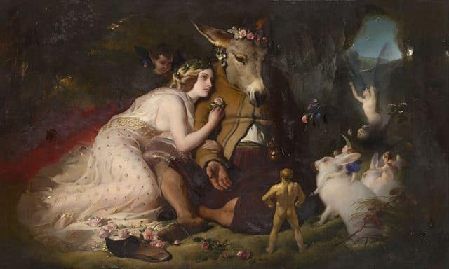 A Midsummer Night's Dream, Titania and Bottom by Edwin Landseer 1848