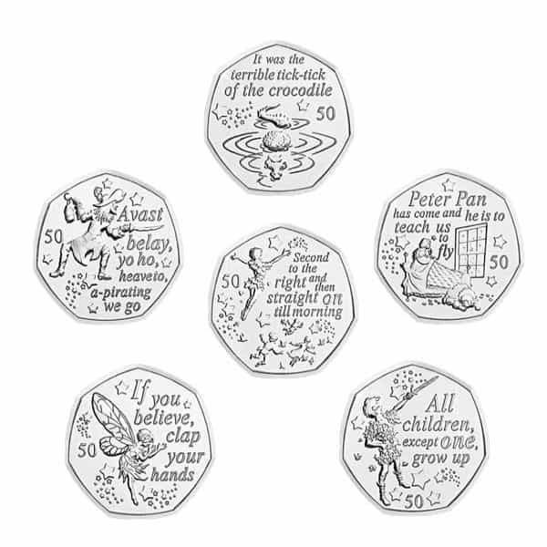 Peter Pan 50p Coins