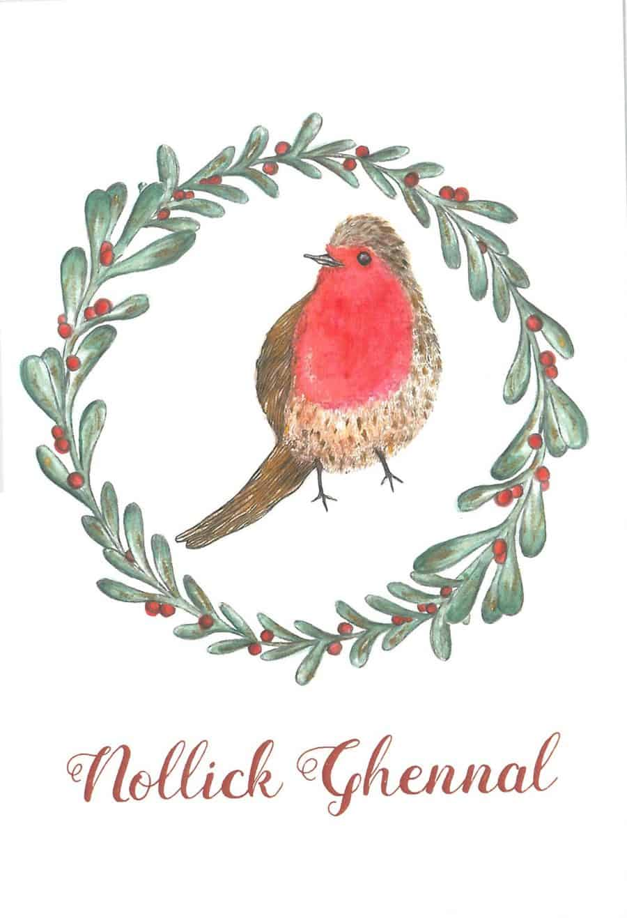 Robin Christmas Card Image copyright Alice Rose Fayle