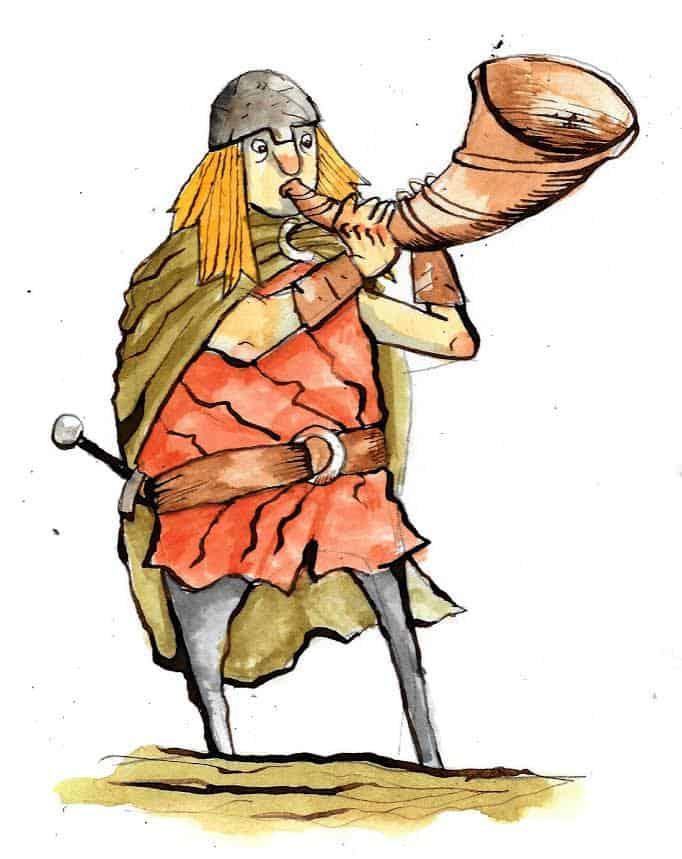 Illustration of Heimdall by Manx artist Juan Moore