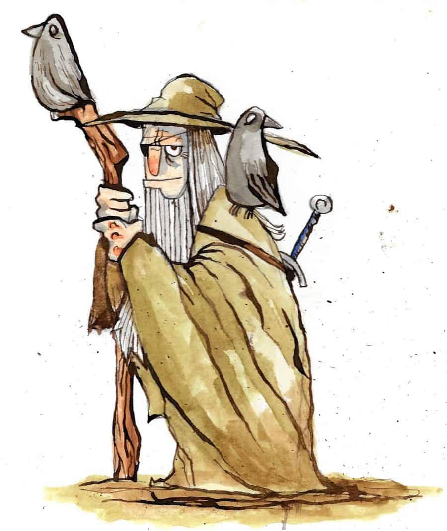 Illustration of Odin by artist Juan Moore