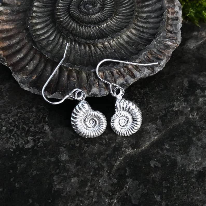 ELEMENTIsle Ammonite Drop Earrings