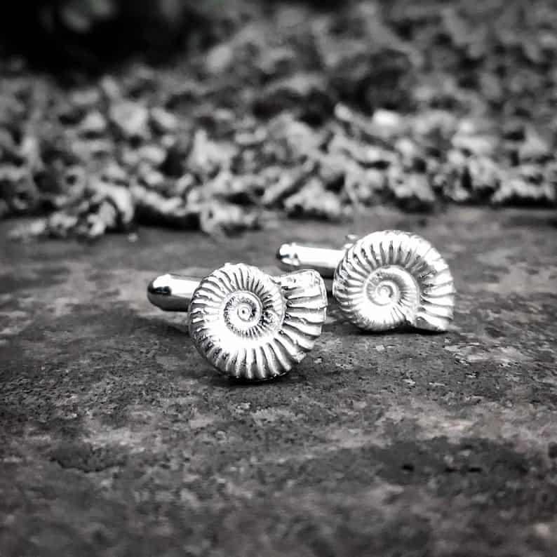 ELEMENTIsle Ammonite Cufflinks