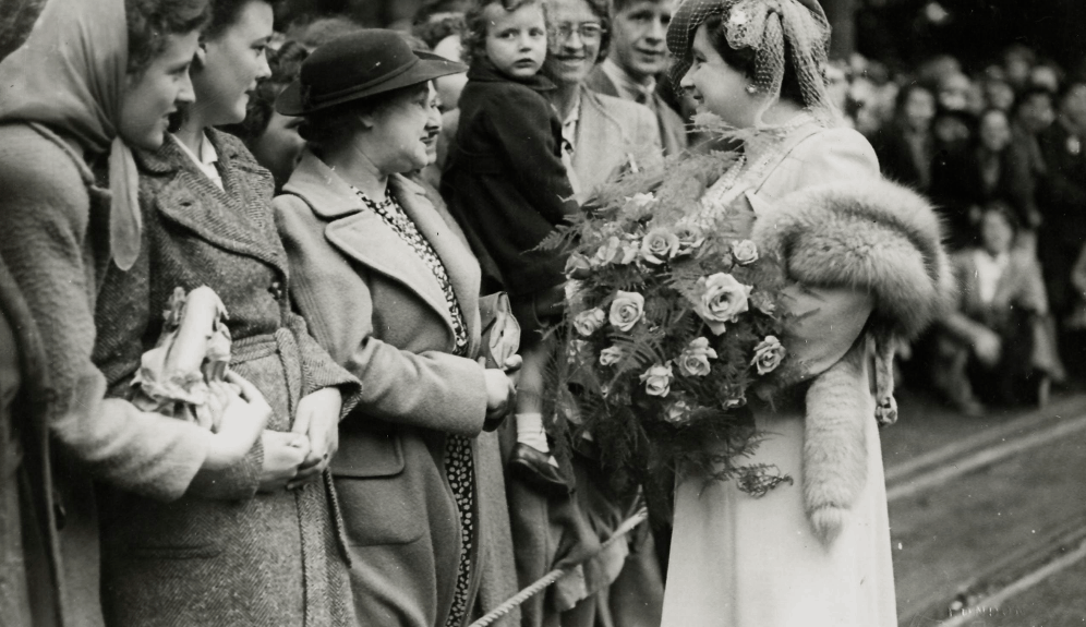 The Queen's Mother visiting the Isle of Man on Tynwald day in 1945.