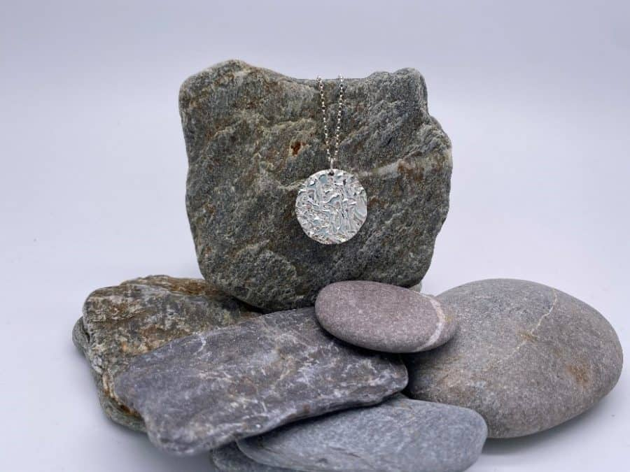 ELEMENTIsle Silver Ripple Pendant
