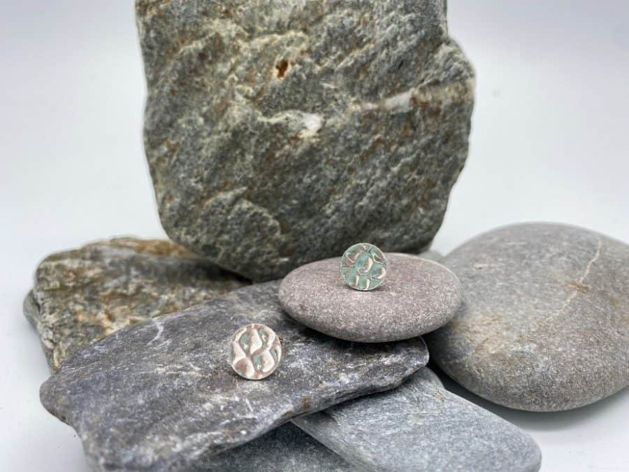 ELEMENTIsle Silver Pebble Stud Earrings
