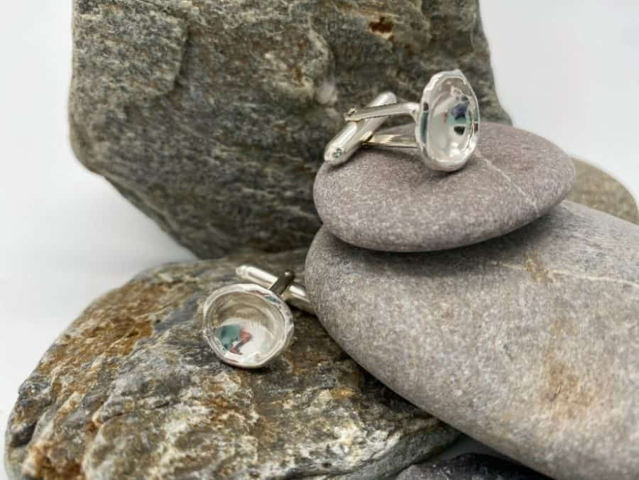 ELEMENTIsle Silver Droplet Cufflinks