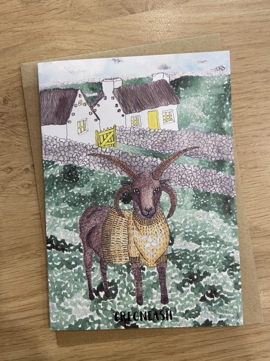 Loghtan Ram Card by Alice Rose Fayle Design