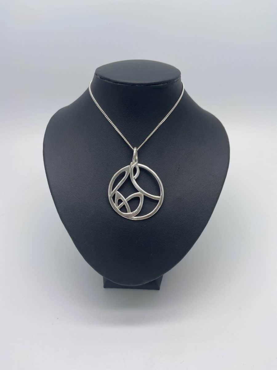 Large Celtic Knot Circle Pendant