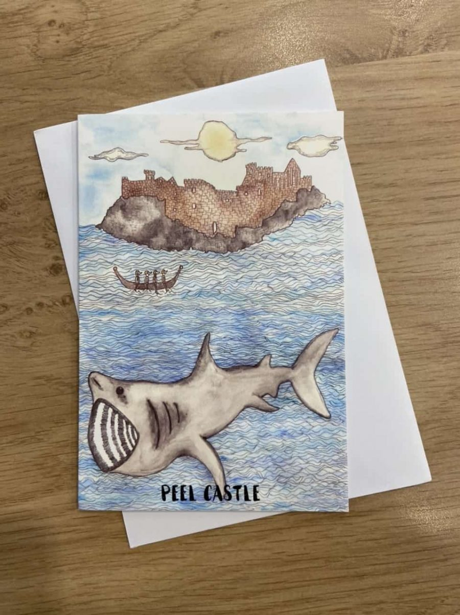 Peel Castle Card by Alice Rose Fayle Design