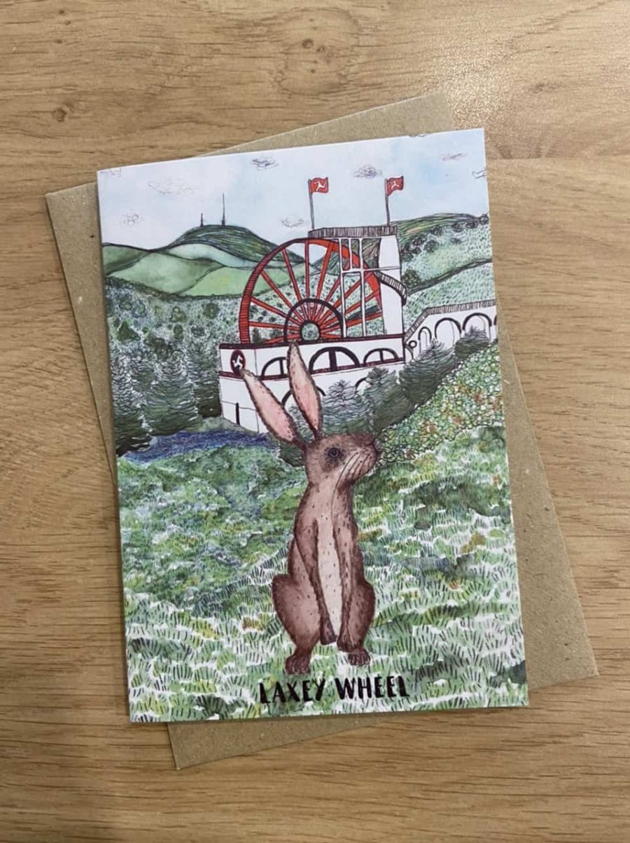 Laxey Wheel Card by Alice Rose Fayle Design