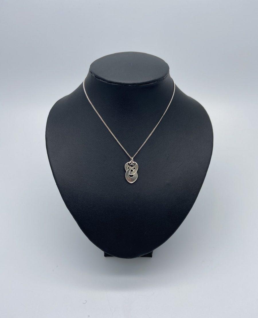 Archibald Knox Style Silver Pendant