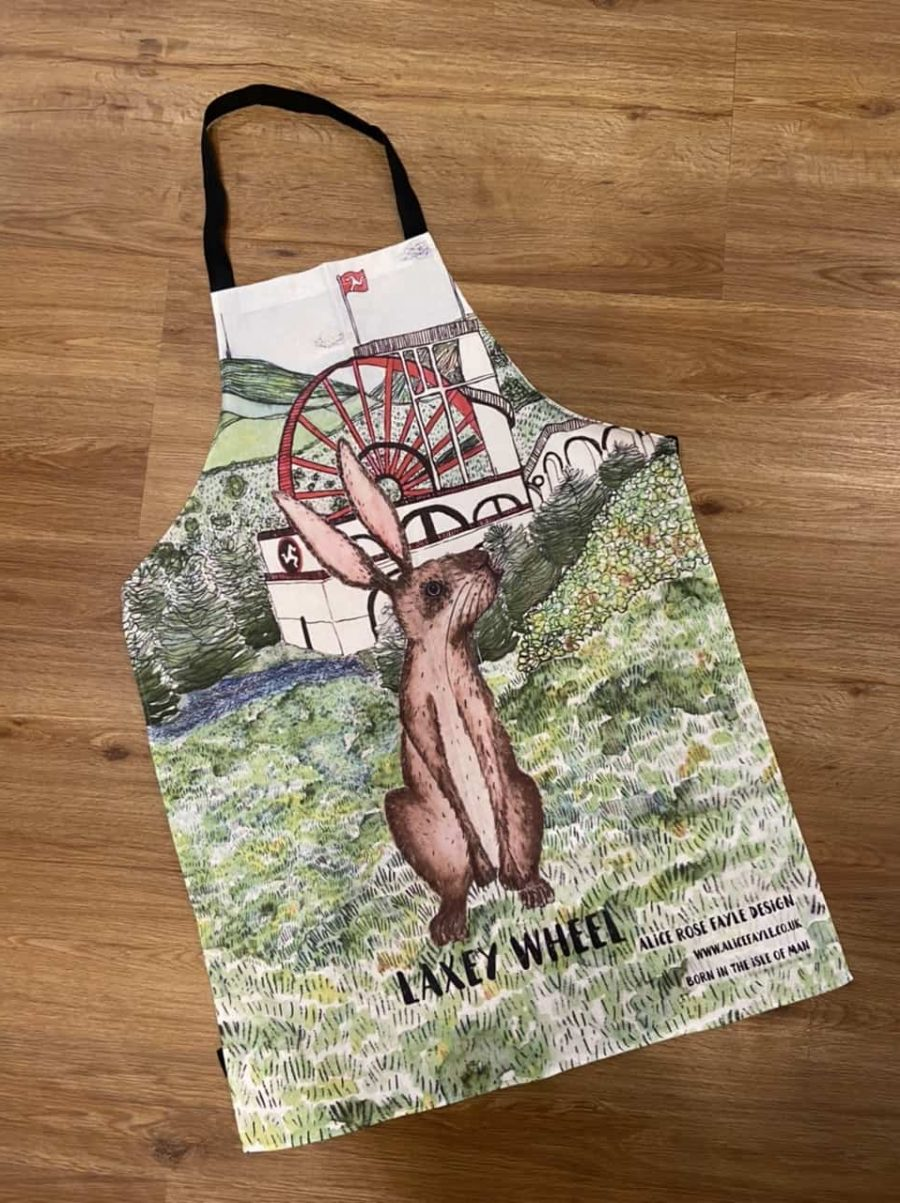 Laxey Wheel Apron by Alice Rose Fayle Design