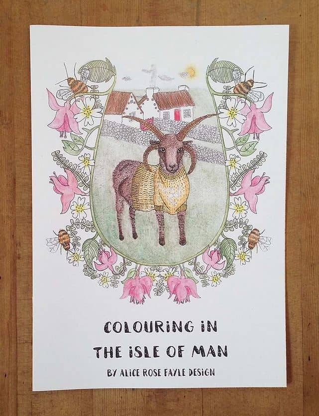 Colouring in the Isle of Man by Alice Rose Fayle Design