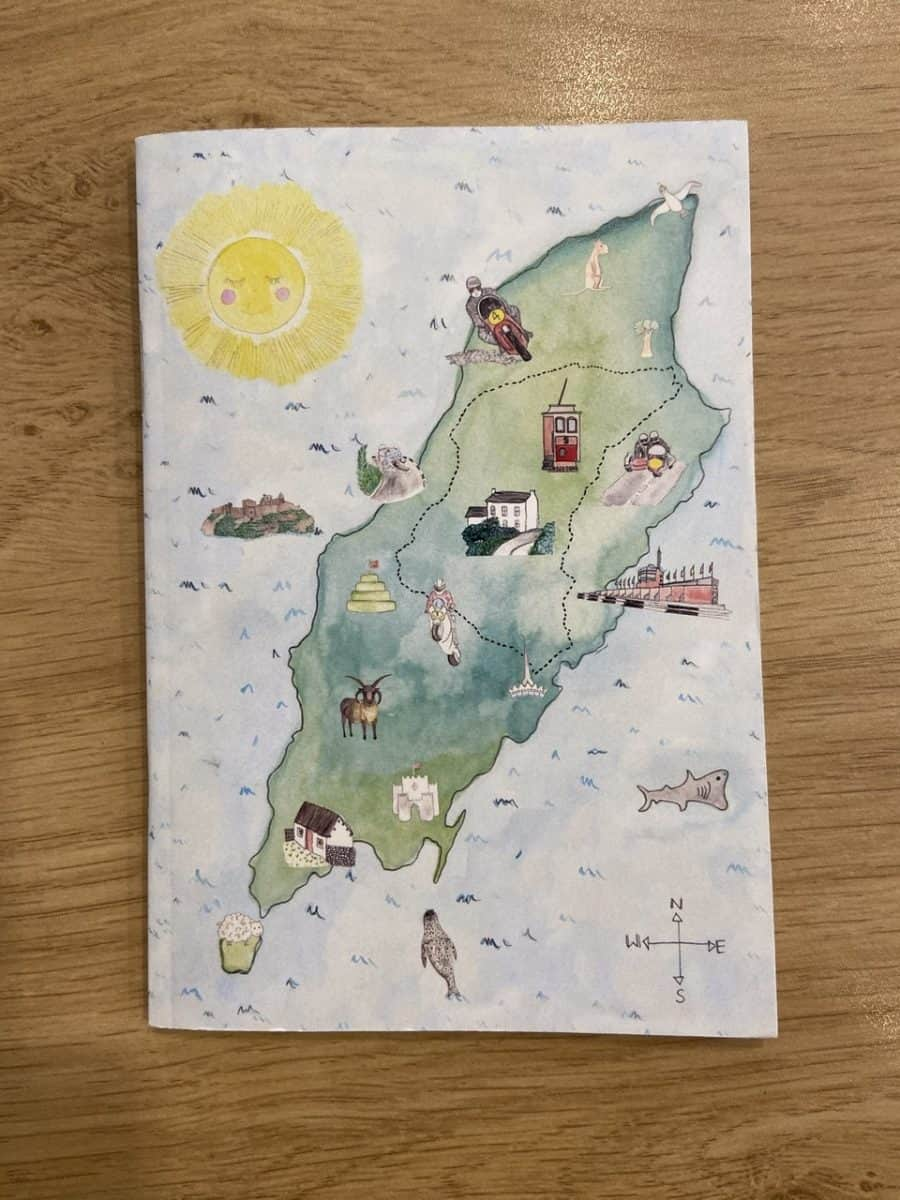 Isle of Man Map Notebook by Alice Rose Fayle Design