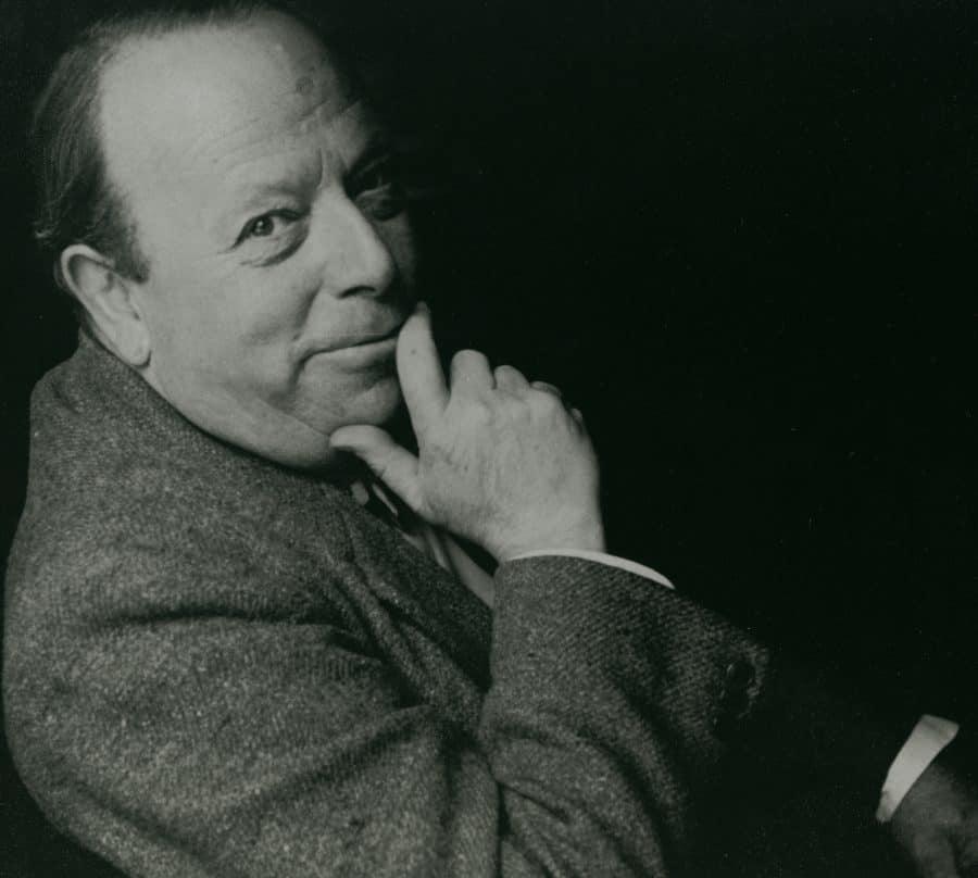Gerhard Bersu Black and white portrait