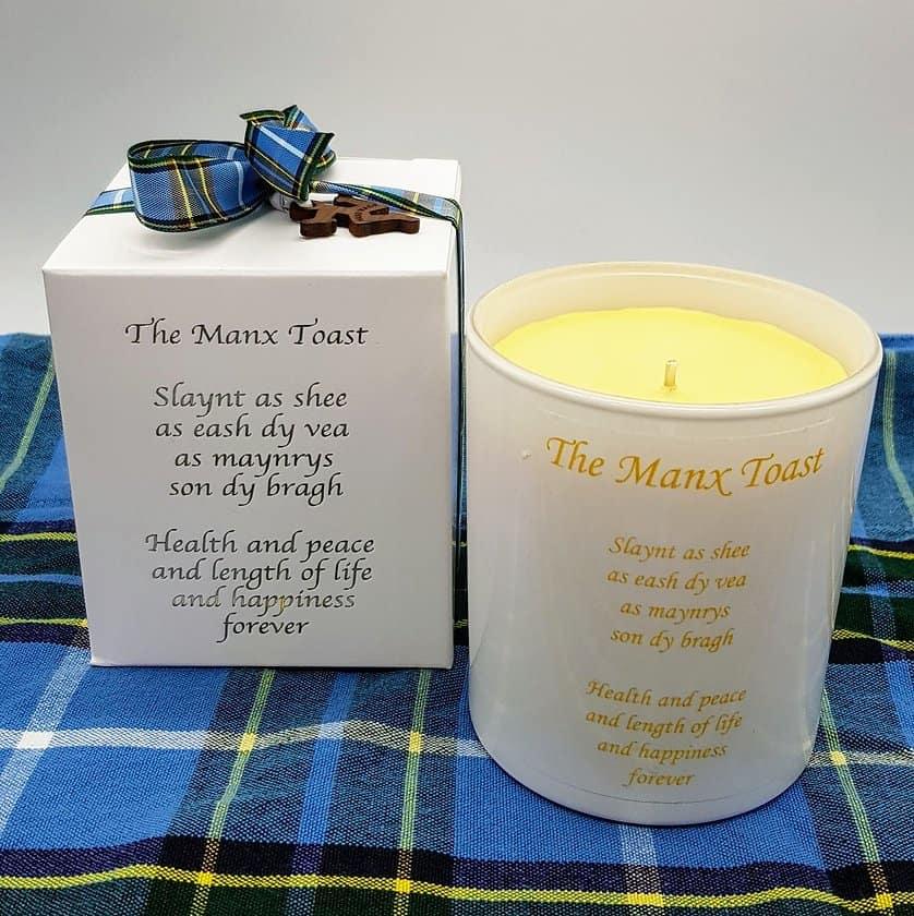 Manx Toast Candle Jar