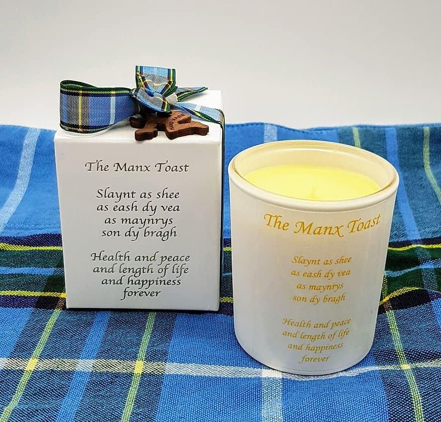 Mini Manx Toast Candle Jar