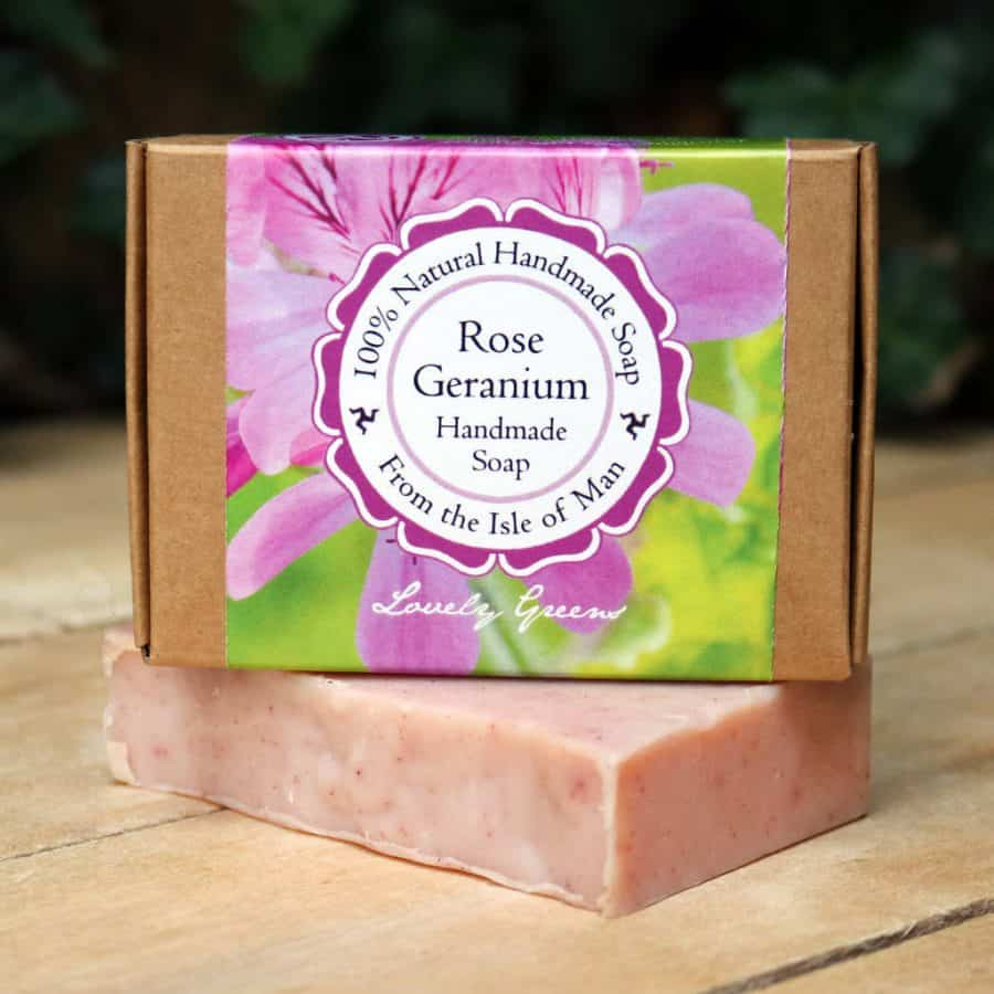 Lovely Greens Rose Geranium Soap