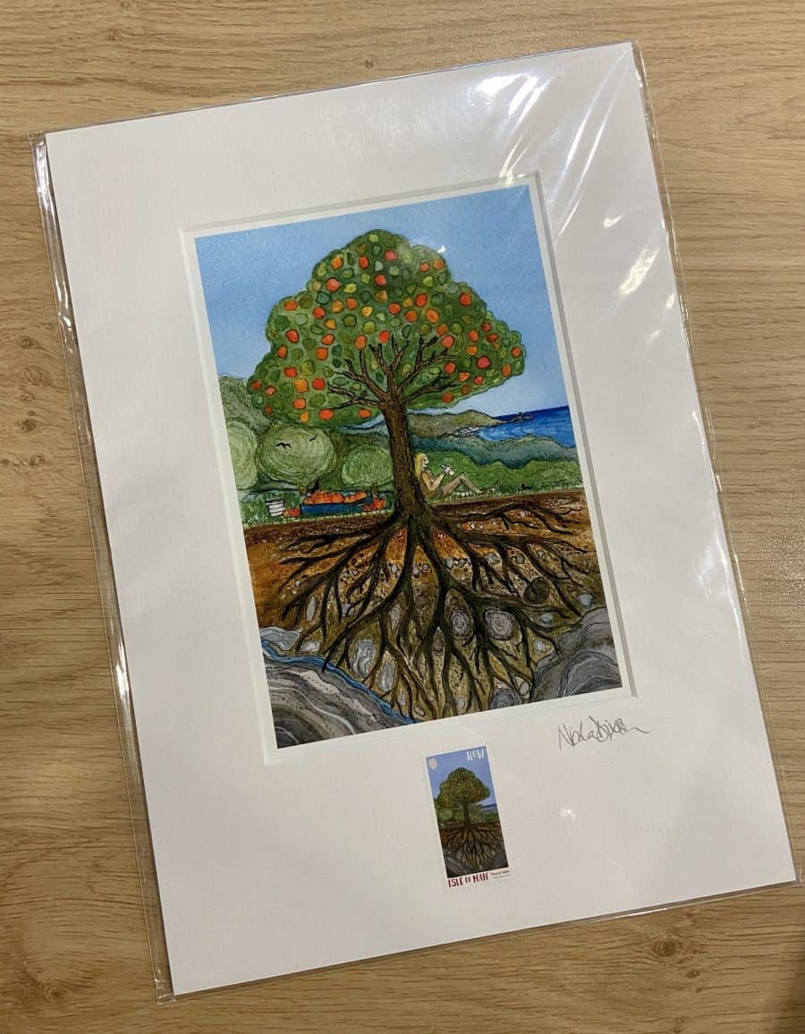 Tree to Table Stamp and Print by Nicola Dixon