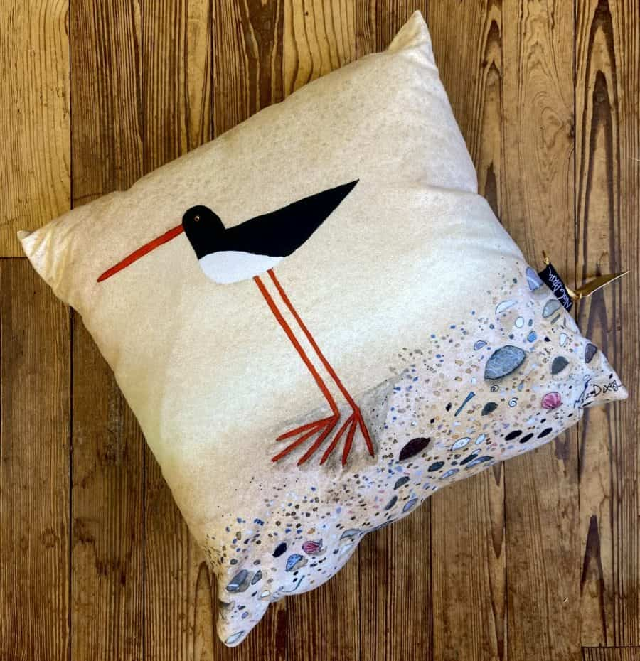 Standing Oystercatcher Cushion Cover
