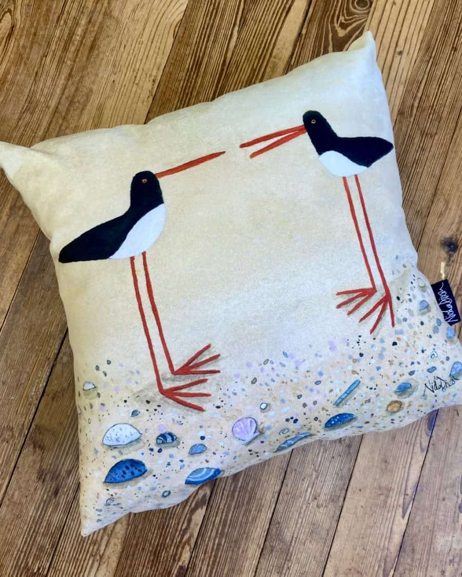 Oystercatcher Pair Cushion Cover