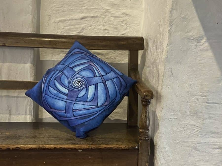 Blue Triskel Cushion Cover