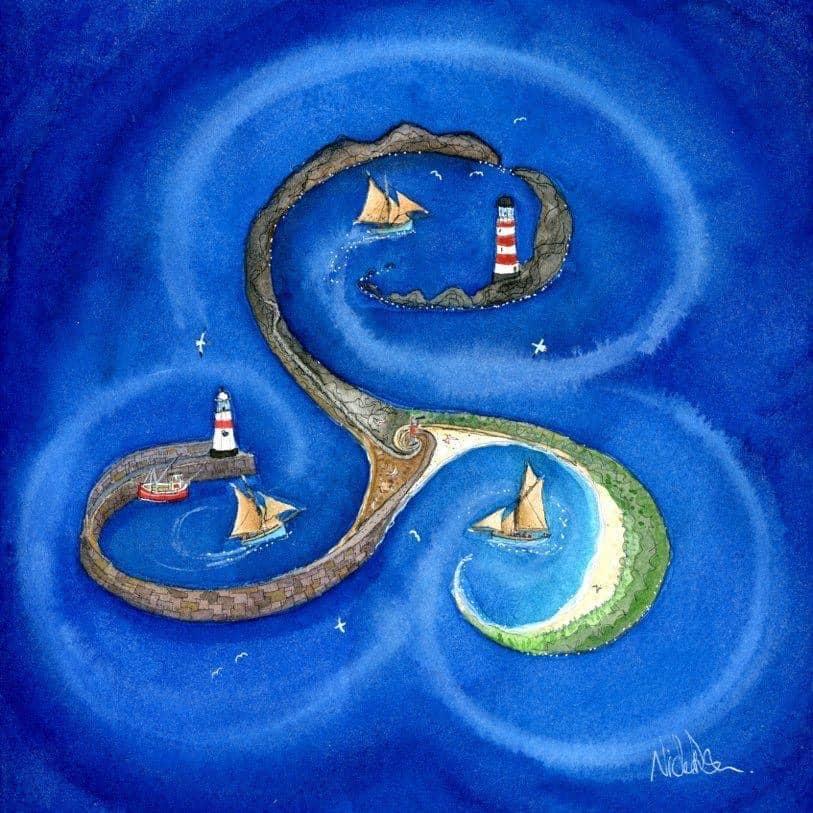 'Triskel Island' Limited Edition Print by Nicola Dixon