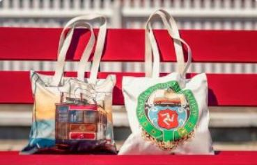 Snaefell Tram Cotton Bag