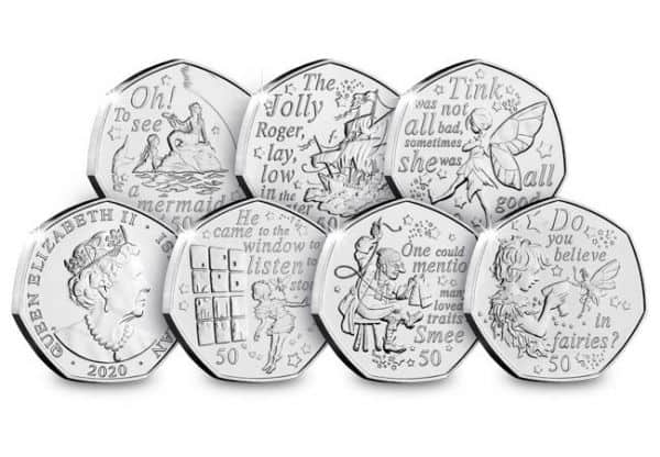 Peter Pan 50p Coins 2020