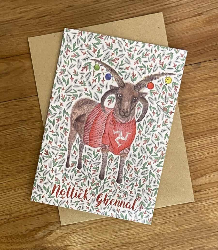 Loghtan Christmas Card by Alice Rose Fayle Design