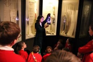 Hello Little People performing Freaky Folklore at the Manx Museum with pupils from Marown School