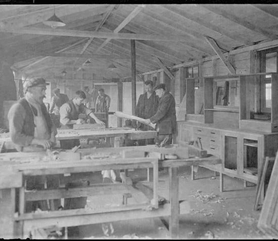 Knockaloe Internment Camp Cabinet designed by Charles Rennie Mackintosh