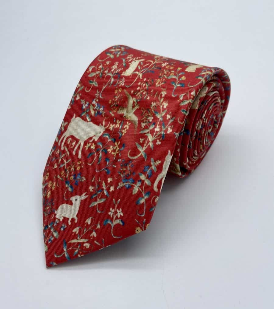 Tapestry Red Tie