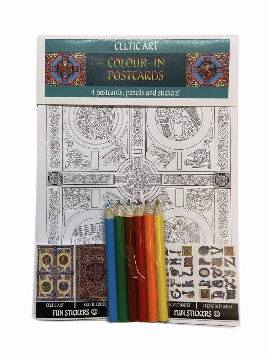Celtic Art Colour-In Postcard Set