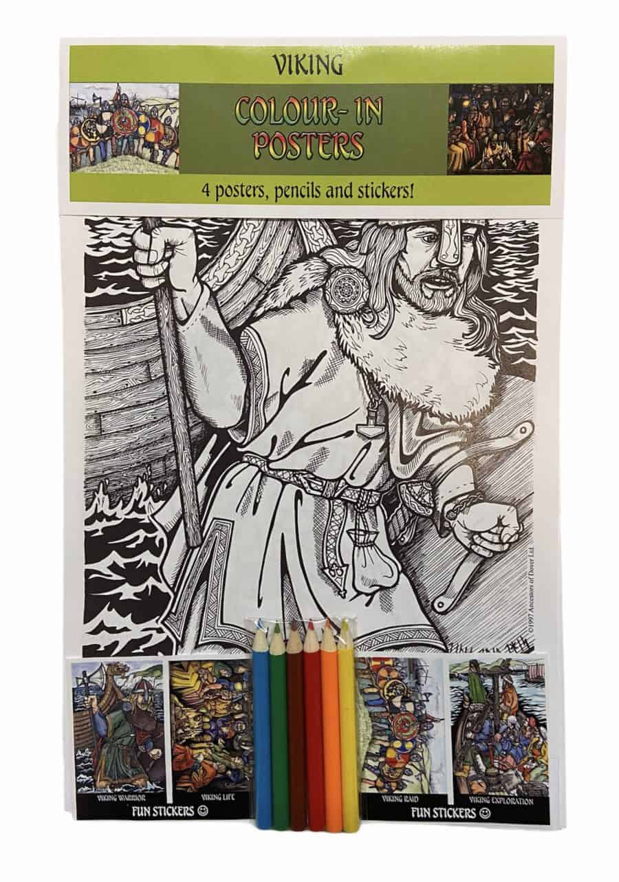 Viking Life Colour-In Poster Set