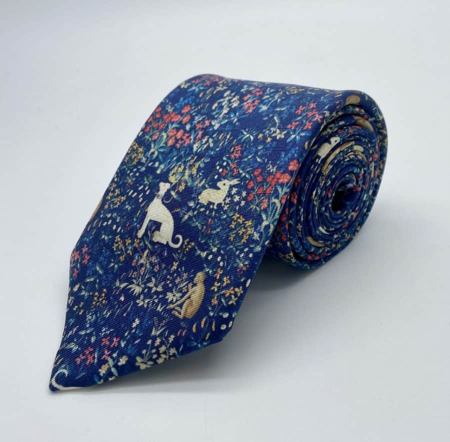 Tapestry Blue Tie