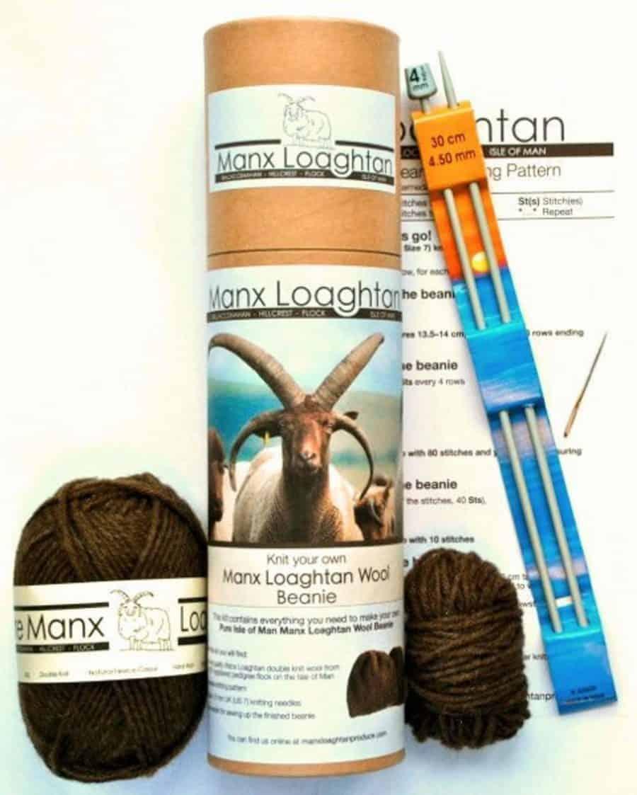 Knit your own Manx Loghtan Wool Beanie Kit