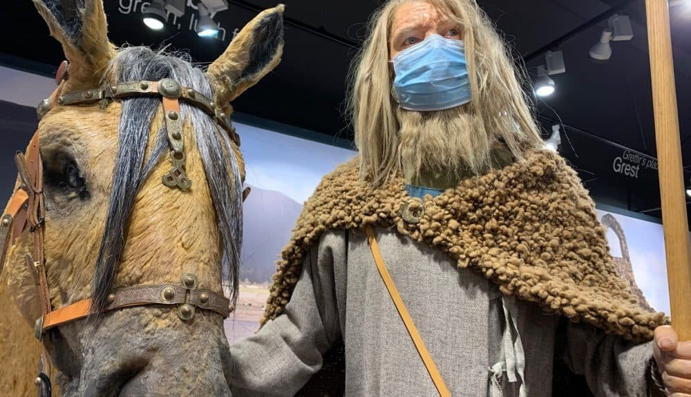 Manx Museum Vikings demonstrate how to wear PPE