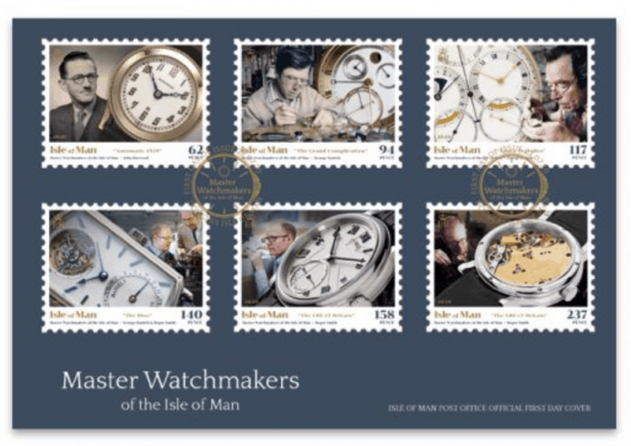 Master Watchmakers of the Isle of Man Stamp FDC