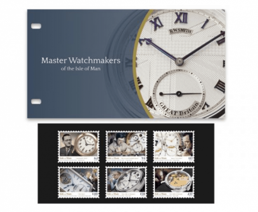 Master Watchmakers of the Isle of Man Stamp Presentation