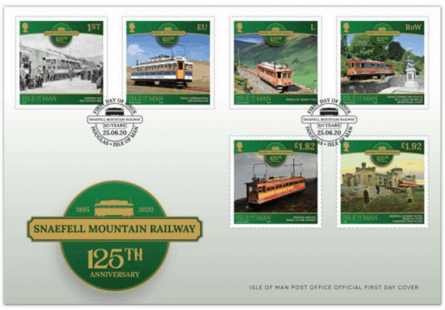 Snaefell Mountain Railway Stamp FDC